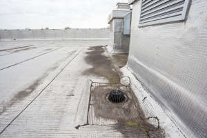on an flat roof drain is that in order to hold against leaves commercial roof inspection
